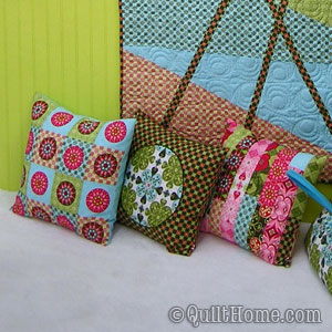 Pillows from Patty's Quilt Market booth