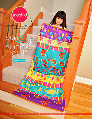 sun & surf summer quilt - free pattern from Patty's blog