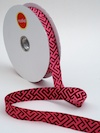 Corridors Jacquard Ribbon - Bordeaux by Patty Young