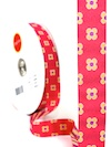Happy Dot Jacquard Ribbon - Raspberry by Patty Young