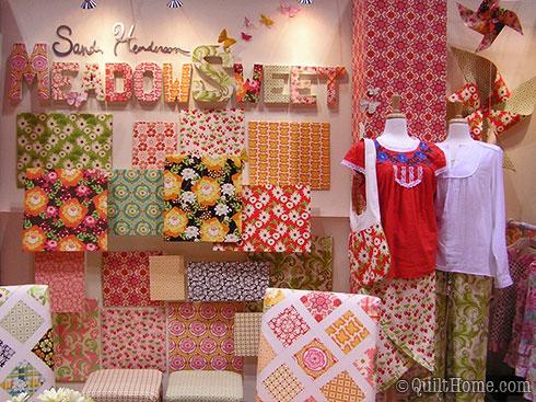 Sandi Henderson's Meadowsweet Quilt Market Booth