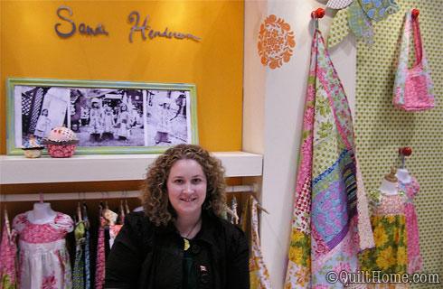 Sandi Henderson at Quilt Market