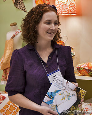 Sandi Henderson with her new book, Sewing Bits & Pieces