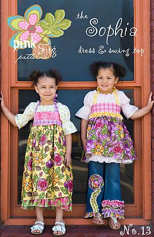 The Sophia Dress & Swing Top Pattern by Chelsea Andersen