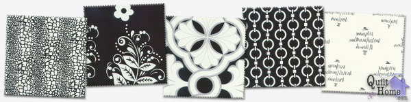 For Your Home by Vicki Payne—Black/Ivory : HDVP15-Black, HDVP16-Black, HDVP17-Black, HDVP12-Ivory, HDVP06-Black
