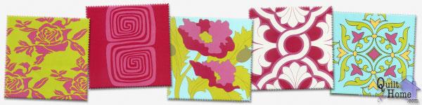 For Your Home by Vicki Payne—Lime/Fuchsia/Aqua : HDVP01-Lime, HDVP05-Fuchsia, HDVP10-Aqua, HDVP17-Cherry, HDVP13-Glass