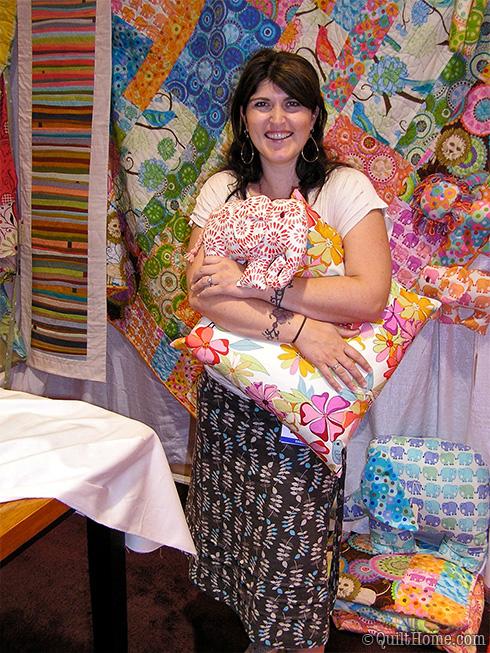 Valori Wells at Fall Quilt Market 2010
